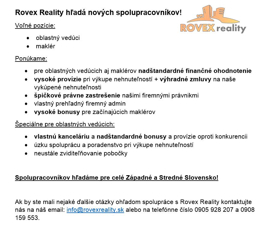 Spolupráca s Rovex Reality