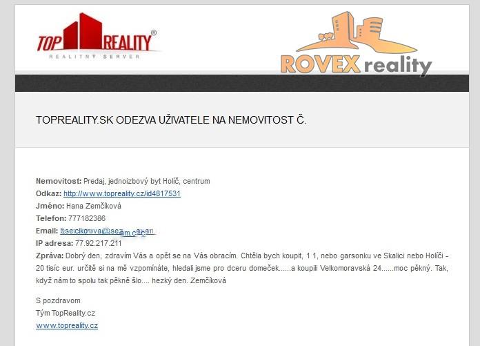 Odozva na prácu maklérov v ROVEXreality